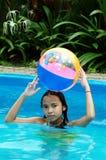 Diversión de la piscina Imagen de archivo libre de regalías