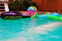 Diversión de la piscina Fotografía de archivo libre de regalías