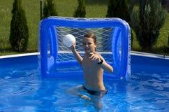 Diversión de la piscina del verano Fotografía de archivo libre de regalías