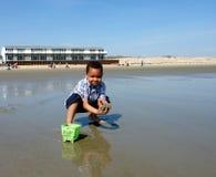 Diversión de la playa Imágenes de archivo libres de regalías
