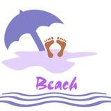 Diversión de la playa stock de ilustración