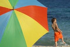 Diversión de la playa Fotografía de archivo libre de regalías