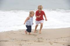 Diversión de la playa Fotos de archivo libres de regalías