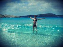 Diversión de la playa del verano Imágenes de archivo libres de regalías