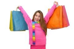 Diversión de las compras Fotografía de archivo libre de regalías