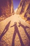 Diversión del barranco de Utah Fotos de archivo libres de regalías