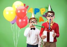 Diversión del cumpleaños imágenes de archivo libres de regalías