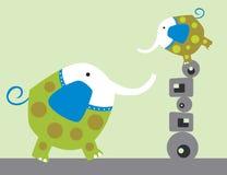 Diversión del elefante Fotos de archivo