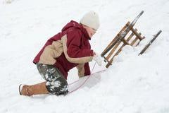 Diversión del invierno Fotos de archivo