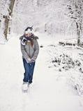 Diversión del invierno de la familia Fotos de archivo libres de regalías