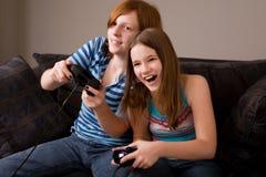 Diversión del juego video Imágenes de archivo libres de regalías