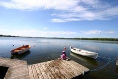 Diversión del lago Fotos de archivo