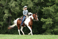 Diversión del montar a caballo Fotos de archivo libres de regalías