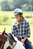 Diversión del montar a caballo Fotografía de archivo