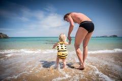 Diversión del verano con el padre Foto de archivo