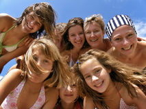 Diversión del verano de la familia Fotografía de archivo