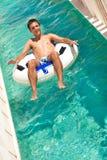 Diversión del verano en aquapark Fotos de archivo