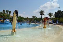 Diversión del verano en el parque del agua Fotografía de archivo libre de regalías