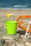 Diversión del verano en la playa Foto de archivo libre de regalías