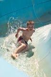 Diversión en aquapark Imágenes de archivo libres de regalías