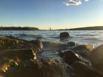 Diversión en el lago Foto de archivo libre de regalías