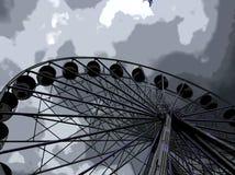 Diversión en el parque de atracciones Foto de archivo libre de regalías