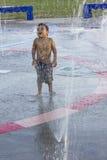 Diversión en el parque del agua Fotos de archivo