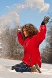 Diversión en la nieve Imagen de archivo libre de regalías