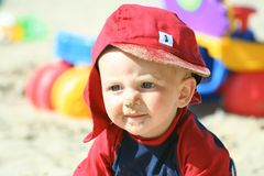Diversión en la playa Foto de archivo