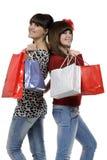 Diversión en las compras Fotografía de archivo libre de regalías