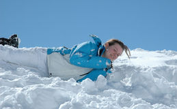 Diversión en nieve Fotos de archivo