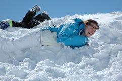 Diversión en nieve Fotos de archivo libres de regalías