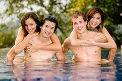 Diversión en piscina Imagen de archivo libre de regalías