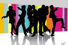 Diversión en sitio del Karaoke Fotografía de archivo libre de regalías