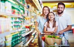 Diversión en supermercado Fotografía de archivo libre de regalías