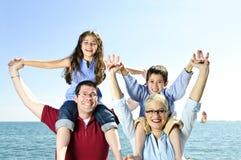 Diversión feliz de la familia Foto de archivo libre de regalías