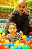 Diversión plástica de las bolas Foto de archivo