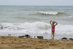 Diversión por el mar Foto de archivo