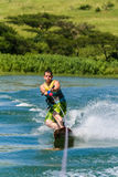 Diversión Rider Skill Balance de Wakeboarding Fotos de archivo libres de regalías