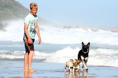 Diversión y juegos de la playa Fotografía de archivo libre de regalías
