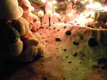 Diversión y muñecos de nieve de la Navidad Foto de archivo libre de regalías