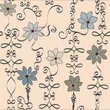 Diversión y vector neutral imaginario del estampado de flores del hierro labrado libre illustration
