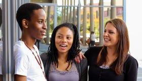 Diversi studenti sulla città universitaria dell'istituto universitario Fotografie Stock
