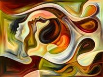 Diversidad de colores internos stock de ilustración