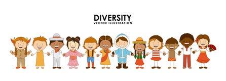 Diversidad de razas ilustración del vector