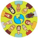 Diversidad en el mundo libre illustration