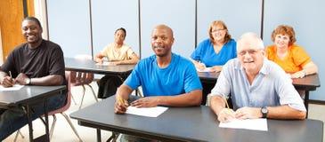 Diversidad en la enseñanza para adultos - bandera Fotos de archivo