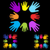 Diversidade das mãos Fotos de Stock