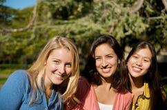 Diversidade do estudante universitário no campus universitário Fotos de Stock Royalty Free
