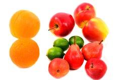 Diversidade do fruto isolada no branco Fotografia de Stock